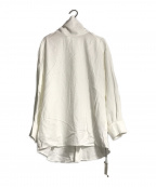 GALLARDA GALANTE(ガリャルダガランテ)の古着「バックボタンギャザーシャツブラウス」 ホワイト