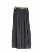 ()の古着「マジョリカプリーツスカート」 グレー