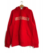SUPREME(シュプリーム)の古着「Perforated Leather Hooded Swea」|レッド