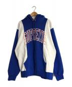 SUPREME(シュプリーム)の古着「Paneled Arc Hooded Sweatshirt」|ブルー×グレー