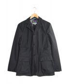 ()の古着「ミリタリーナイロンテーラードジャケット」|ブラック