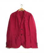 ARMANI COLLEZIONI(アルマーニ コレツィオーニ)の古着「コットンリネンテーラードジャケット」 ピンク