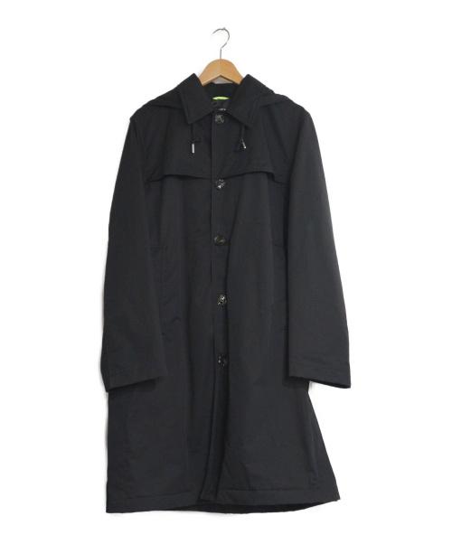 DIESEL(ディーゼル)DIESEL (ディーゼル) ナイロンフーデッドコート ブラック サイズ:M ステンカラーコート ロングコート ナイロンコートの古着・服飾アイテム