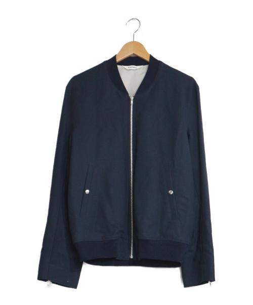 digawel(ディガウェル)digawel (ディガウェル) アームジップブルゾン ネイビー サイズ:2 ジップジャケット ブルゾン 袖ジップ ライトアウターの古着・服飾アイテム