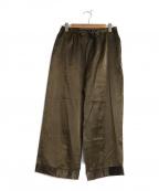 Veritecoeur(ヴェリテクール)の古着「リネンシルクイージーパンツ」|オリーブ