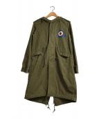 ()の古着「ミリタリーコート」 オリーブ