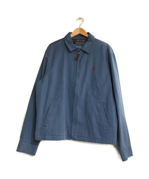 POLO RALPH LAUREN(ポロ・ラルフローレン)POLO RALPH LAUREN (ポロ・ラルフローレン) スイングトップ ブルー サイズ:L ライトアウター ロゴの古着・服飾アイテム