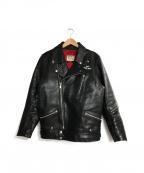 Lewis Leathers(ルイスレザース)の古着「サイクロンレザージャケット」 ブラック