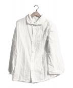 ()の古着「チェックWガーゼシャツ」 ホワイト