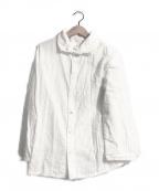 plantation(プランテーション)の古着「チェックWガーゼシャツ」 ホワイト