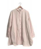 ()の古着「ロングシャツ」 ピンク
