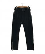 EMPORIO ARMANI(エンポリオアルマーニ)の古着「ベロアトラウザーパンツ」|ブラック