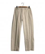 ANATOMICA (アナトミカ) コットンストレートパンツ ベージュ サイズ:78.5cm(W31) ストレート コットン 綿