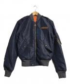 POLO RALPH LAUREN(ポロ・ラルフローレン)の古着「Reversible Bomber Jacket」|ネイビー