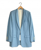 FUMIKA UCHIDA(フミカウチダ)の古着「シルクリネンショールカラージャケット」|ブルー