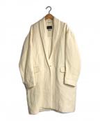 ISABEL MARANT(イザベルマラン)の古着「リネンウールショールカラーコート」|ホワイト