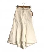 eimy istoire(エイミーイストワール)の古着「ベルト付きカラーマーメイドスカート」|ホワイト