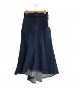 eimy istoire(エイミーイストワール)の古着「ベルト付きデニムマーメイドスカート」|インディゴ