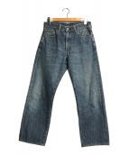 ()の古着「セルビッチデニムパンツ」|インディゴ