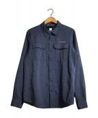 ()の古着「イリコメンズロングスリーブシャツ」 ネイビー