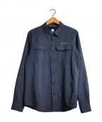 Columbia(コロンビア)の古着「イリコメンズロングスリーブシャツ」|ネイビー