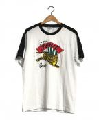 KENZO()の古着「ラグランタイガープリントTシャツ」|ホワイト×ブラック