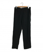 Ys(ワイズ)の古着「リネンテーパードパンツ」|ブラック