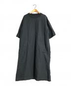 MHL(エムエイチエル)の古着「ドライコットンリネンワンピース」|チャコールグレー