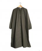 休日と詩(キュウジツトウタ)の古着「シャツワンピース」|グレー