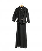 Ameri VINTAGE(アメリヴィンテージ)の古着「ジェントルウーマンオーバーラップドレス」 ブラック