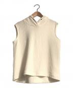 INTIMITE(アンティミテ)の古着「リブノースリーブフーディー」|ホワイト