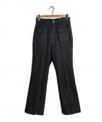 IENA LA BOUCLE(イエナ ラ ブークル)の古着「デニムフレアパンツ」|ブラック