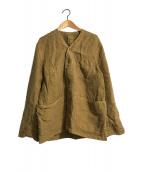 ()の古着「リネンの908ベストオール」|ブラウン