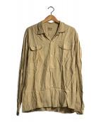 ()の古着「L/Sボーリングシャツ」 ベージュ