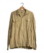 STYLE EYES(スタイルアイズ)の古着「L/Sボーリングシャツ」|ベージュ