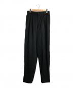 ISSEY MIYAKE MEN(イッセイミヤケメン)の古着「タックウールパンツ」|ブラック