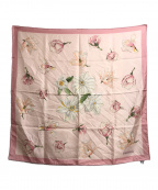 TIFFANY & Co.()の古着「花柄シルクスカーフ」|ピンク
