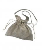 HENDER SCHEME(エンダースキーマ)の古着「ピッグレザー巾着ショルダーバッグ」|ベージュ
