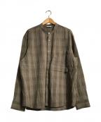 WELLDER(ウェルダー)の古着「バンドカラーシャツジャケット」 ブラウン