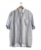 COMME des GARCONS SHIRT()の古着「ストライプシャツ」|ブルー×ホワイト