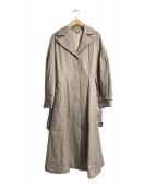 ()の古着「パインミングデザイントレンチコート」 ブラウン