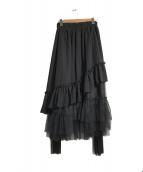 ()の古着「ハイウエストチュールスカート」 ブラック