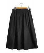 ()の古着「ウールギャザースカート」 ブラック