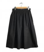 O'NEIL OF DUBLIN(オニールオブダブリン)の古着「ウールギャザースカート」|ブラック