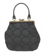 mina perhonen(ミナ ペルホネン)の古着「レザーハンドルバッグ」|ブラック