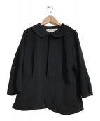 ()の古着「ラウンドカラージャケット」 ブラック
