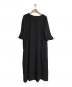 si-si-si comfort(スースース―コンフォート)の古着「ブラウスワンピース」|ブラック