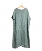 YUNI(ユニ)の古着「ラミー製品染めOP」|グリーン