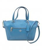 COACH(コーチ)の古着「ペブルレザープレーリーサッチェル2WAYバッグ」 ブルー