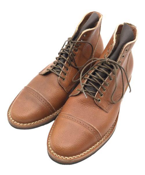 VIBERG(ヴィバーグ)VIBERG (ヴィバーグ) ストレートチップブーツ ブラウン サイズ:7 1/2の古着・服飾アイテム